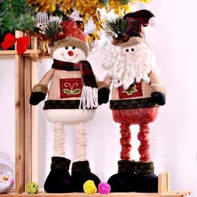 Christmas Santa Claus Snowman Gift Doll Toy Xmas Decor - 15cm