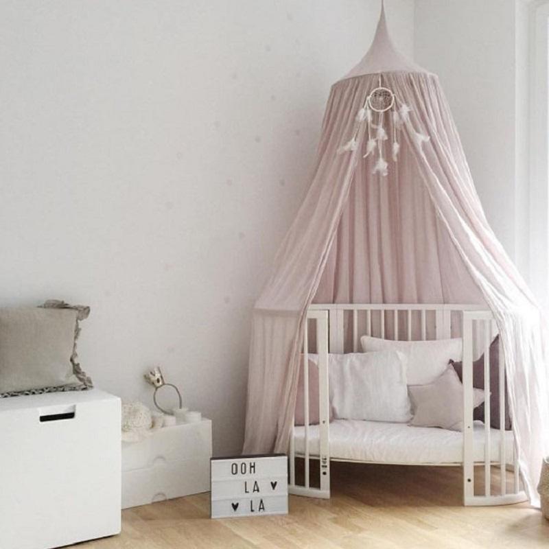 Runde Baby Bett Mosquito Net Kuppel Hängenden Bett Baldachin ...