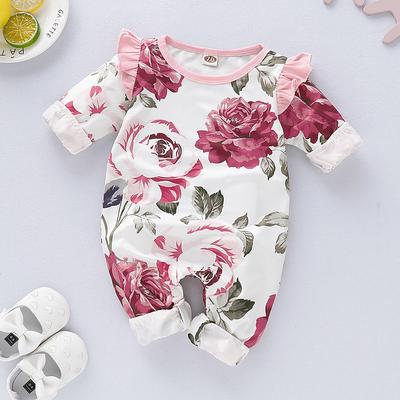 Newborn Baby Girl/¡/¯s Rompers Sleeveless Cotton Onesie I Love You Print Outfit Stylish Jumpsuit Autumn Pajamas Bodysuit