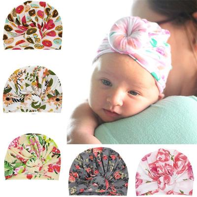 Fashion Cute Newborn Kids Baby Boy Girl Indian Turban Knot Cotton Beanie Hat Cap