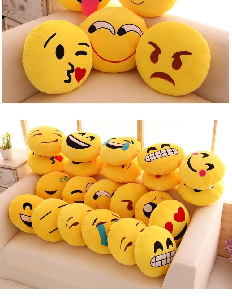 Emoji Stuffed Cushion Smiley Emoticon Plush Toy Doll Girl Kids Sofa