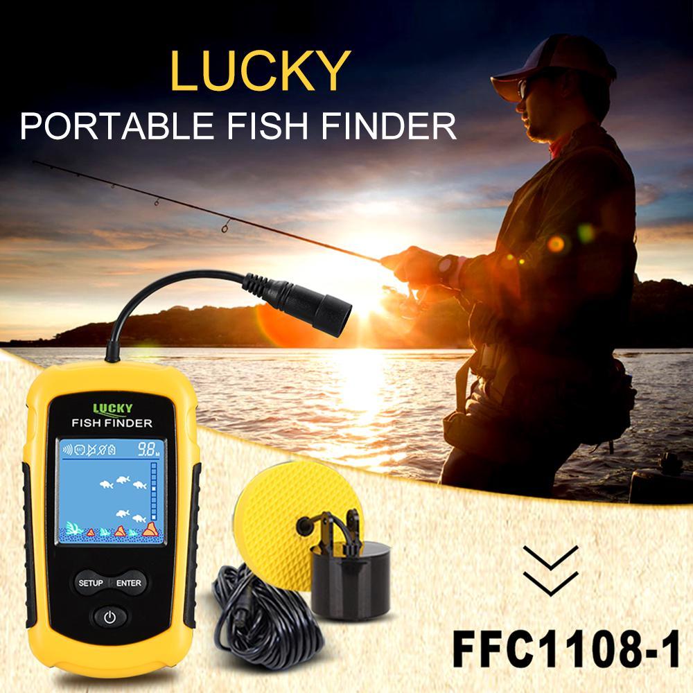 Лаки цветные LCD экран портативный проводной рыбы Finder 100M диапазон глубины Sonar Эхолоты Эхолот – купить по низким ценам в интернет-магазине Joom