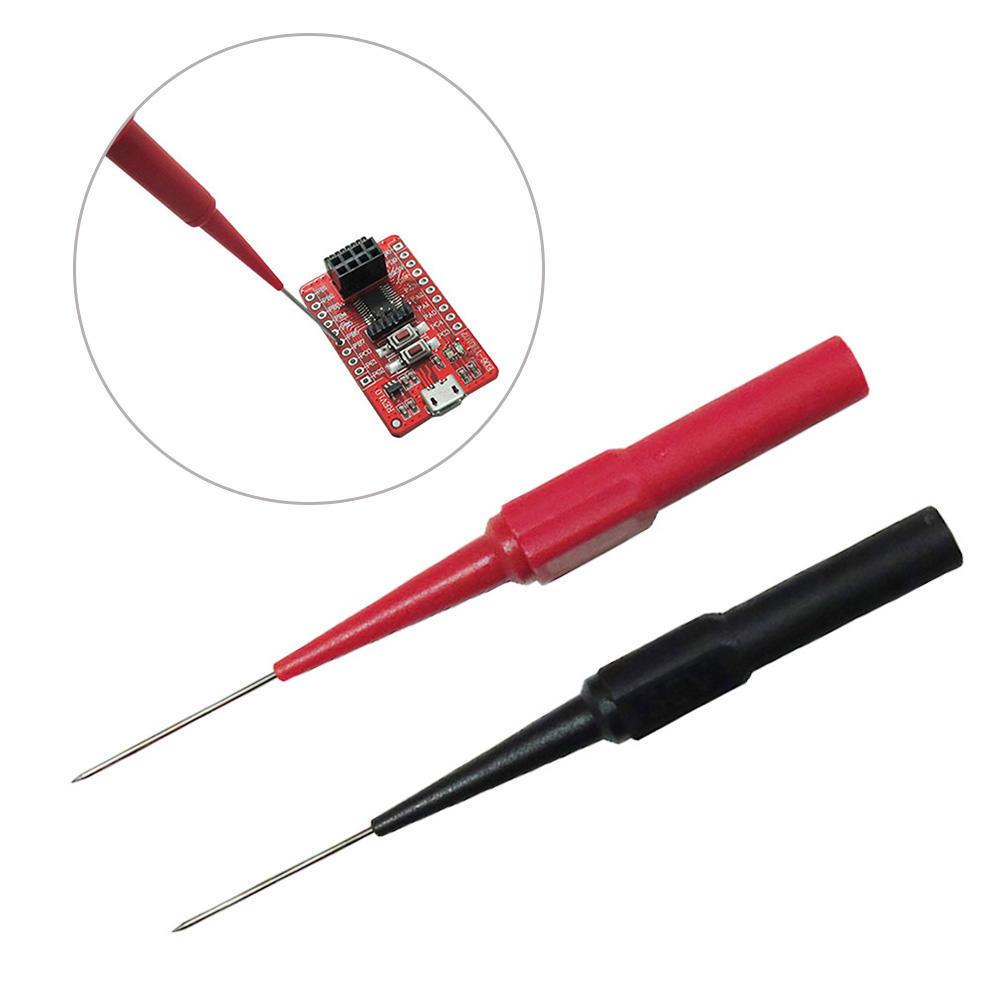 2pcs Prüfspitzen Isolierung Piercing Nadel MultimeterTest Kabel Sonde30V-60V