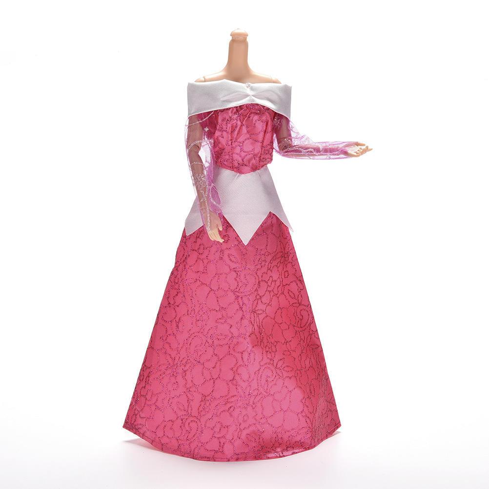 1 X Vestido de novia para Barbies durmiente muñecas 23.5cm/9.25 ...