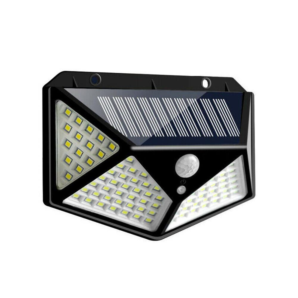 2x100LED Solar Power Sensor Light Outdoor Garden Landscape Security Wall Light