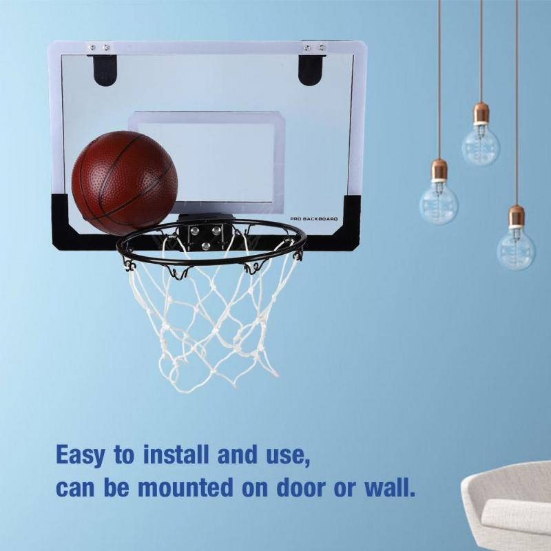 39918ce44aa Indoor Mini Basketball System Backboard Hoop Kit Door Wall Mounted ...