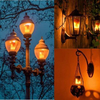 E27 LED Flicker Flame Light Bulb Simulated Burn Fire Effect Festival Party Decor