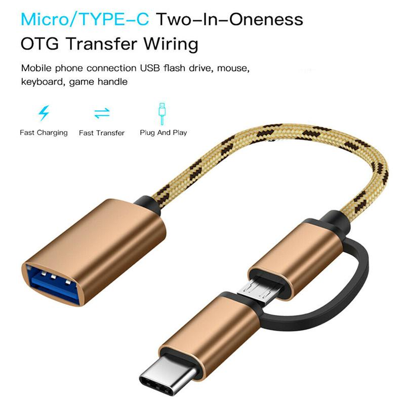 2 In 1 Type C Micro Usb To Usb 3 0 Interface Otg Adapter Cable Buy From 1 On Joom E Commerce Platform