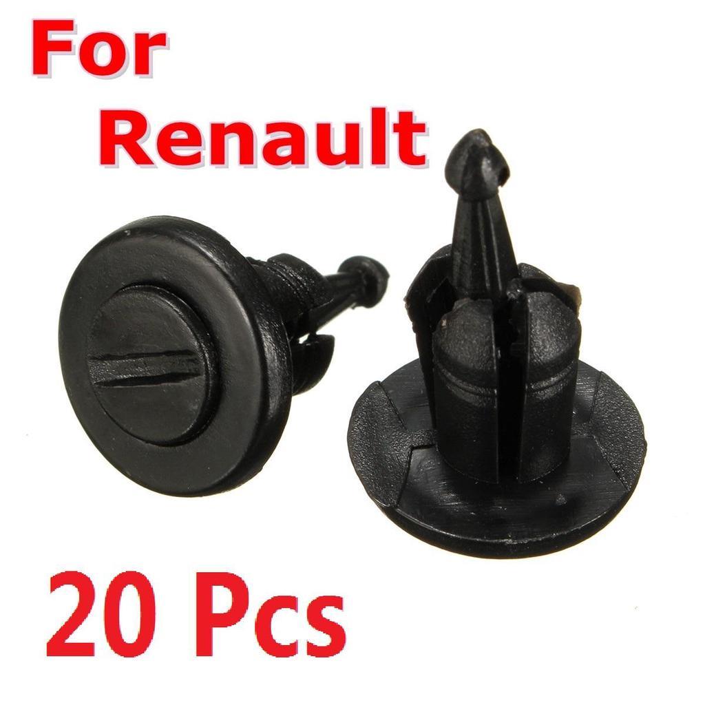 10x clips Para Renault Citroen Peugeot Puerta moldeo cuerpo Sujetadores de Plástico Negro