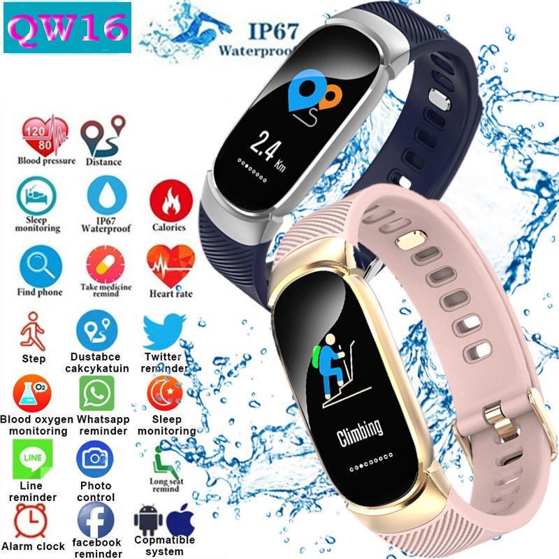 Фото - Смарт браслет смотреть сердечного ритма монитор водонепроницаемый фитнес Tracker Bluetooth Спорт смарт-часы наматрасник dimax аква смарт протекшн плюс 200x200