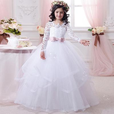 49bc48658f Dzieci Princess Dress Sweet Prom Wedding Birthday Party Dress Girls Evening  Dress