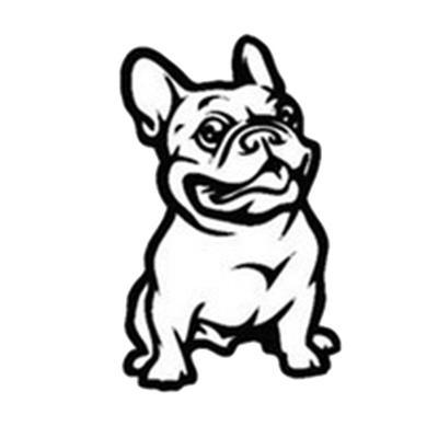 Французский бульдог наклейка-Френчи на борту французский бульдог собаки животные Франция