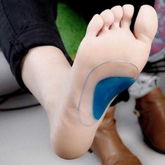Мягкий гель ортопедических арки поддержки подушки стельки боль снимают плоские ноги корректор фото