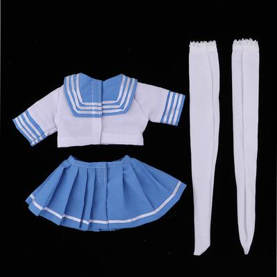 Adorable College Style School Uniform Set For 1//3 BJD Girl Dolls Accessories