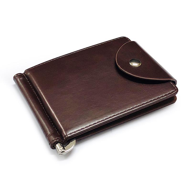 Мужской ультратонкий кожаный кошелек со слотами для кредитных карт фото