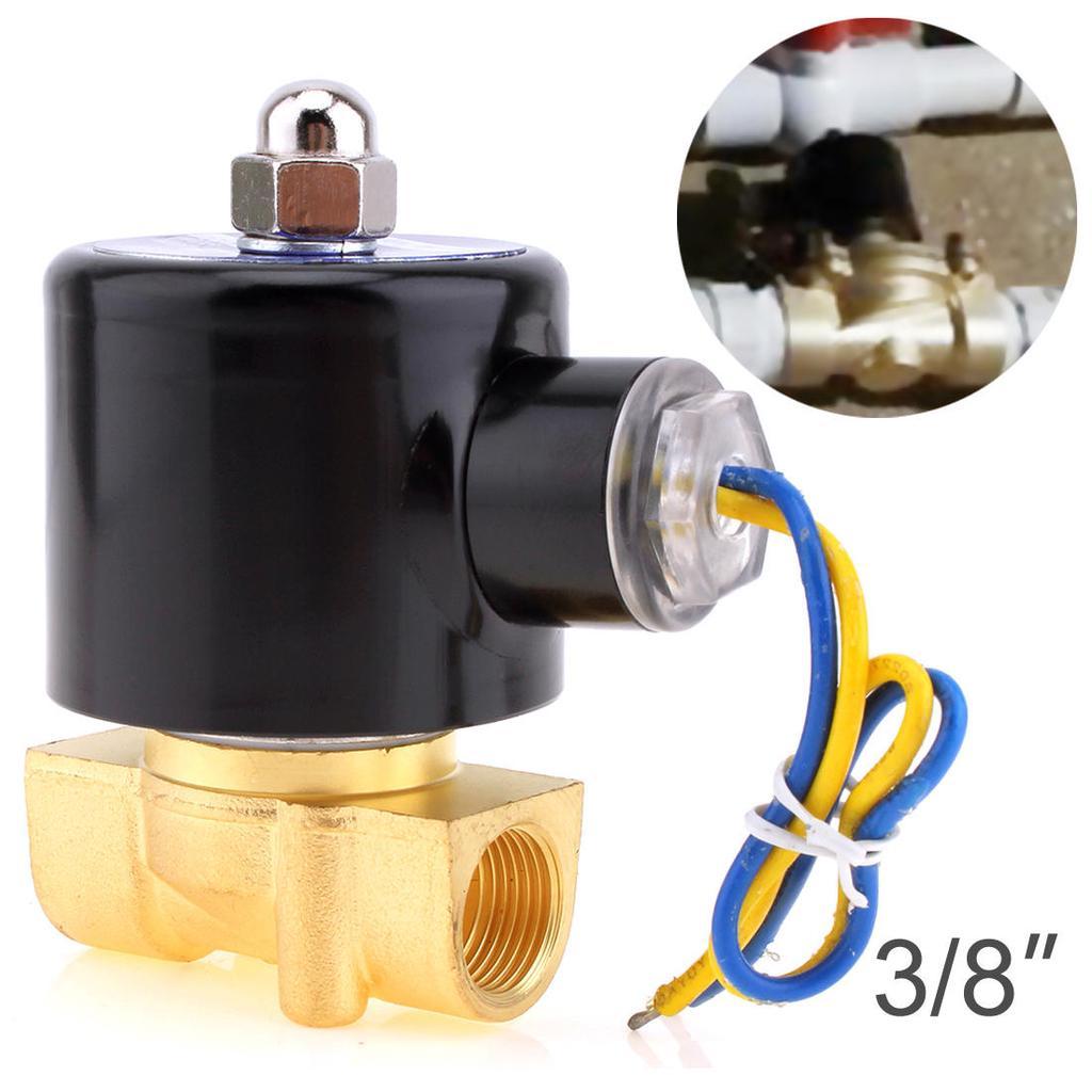 "12VDC Water Gas Air Fuel NC Solenoid Valve 1/"" inch BSPP x 1"