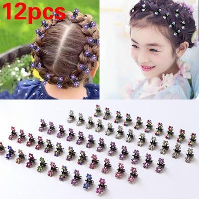 Kid's Hairpins Girls Flower Mini Hair Claws Clip Clamp 12 pcs/Lot