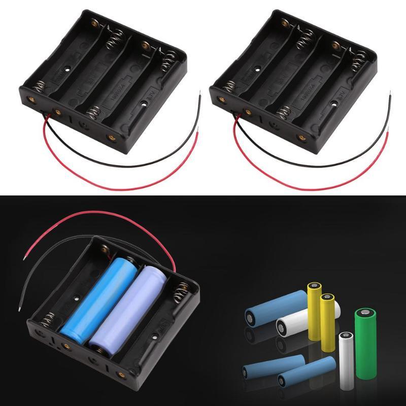 Titular de la batería 3V AAA Alambre Estuche Caja 2 células ranura abierta