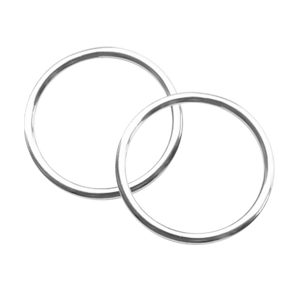 STRONG STEEL O RINGS ROUND CIRCLULAR CRAFT HANDBAGS HANDLES WEBBING MARINE USE