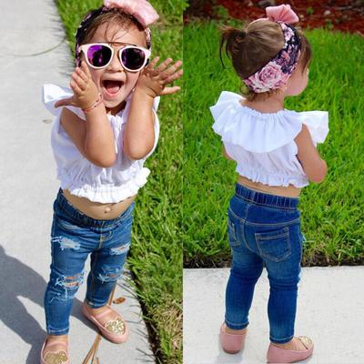 UK Kids Baby Girls Clothes Long Sleeve Top Shirt Vest Dress Pants Casual Outfit