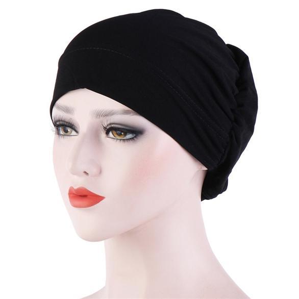 Damen Turban Harrband Kopftuch Wickel Beanie Chemo Hijab Mütze Hut Kopfbedeckung