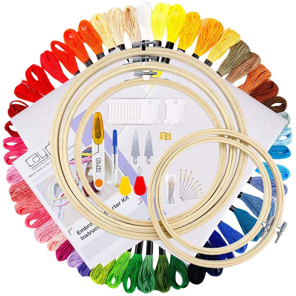 50x Cross Stitch Needlework Threader for DIY Sewing Stitchwork Embroidery