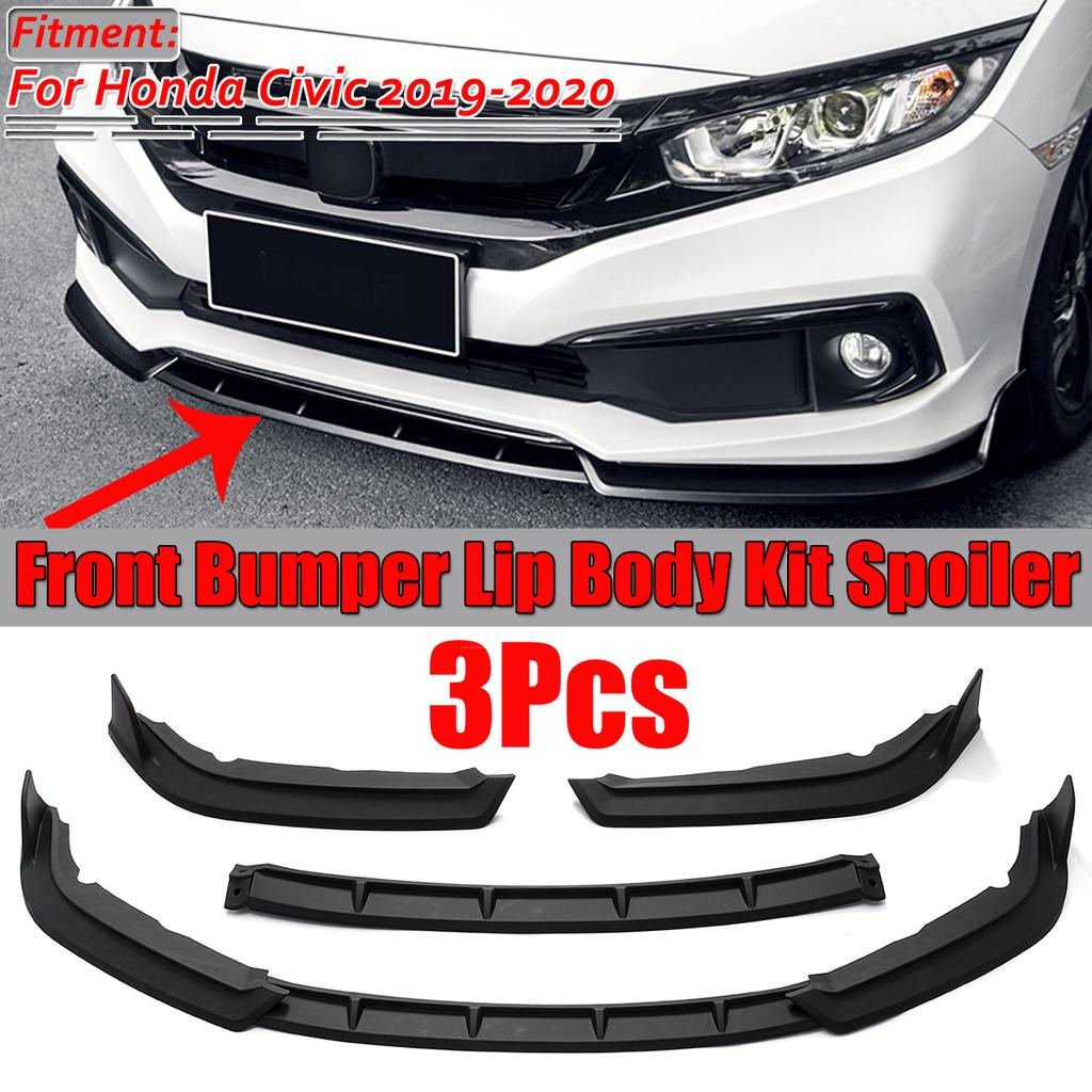 For 2019 2020 Honda Civic 2 4 Door Front Bumper Lip Chin Spoiler Splitter Refitted Three Stage Buy At A Low Prices On Joom E Commerce Platform