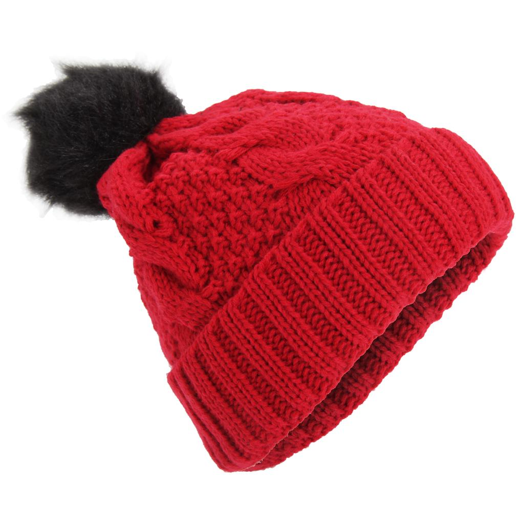 Universal Textiles Childrens Girls Thinsulate Thermal Winter Beanie Hat with Pom Pom 3M 40g