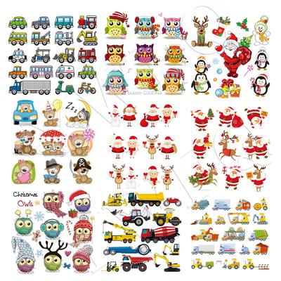 Cute Baby Clothes Christmas Patches DIY Iron-on Transfers Stickers Heat Print By Household Irons