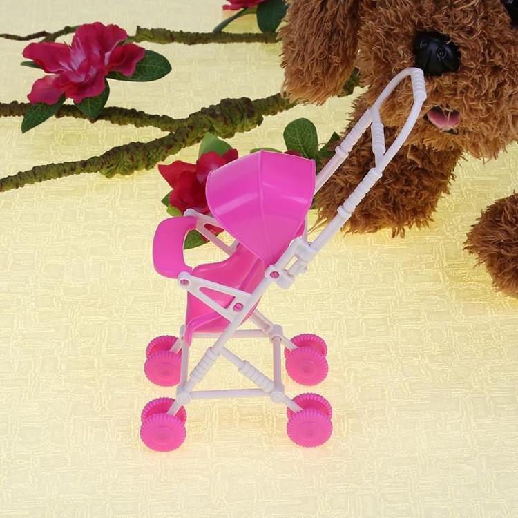 DIY plástico vivero Buggy Cochecito muñecas muebles juguete del bebé ...