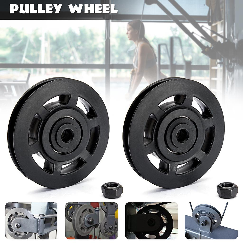 """3.5/"""" Universal Nylon Bearing Pulley Wheel Cable Home Gym Fitness Equipment Part"""