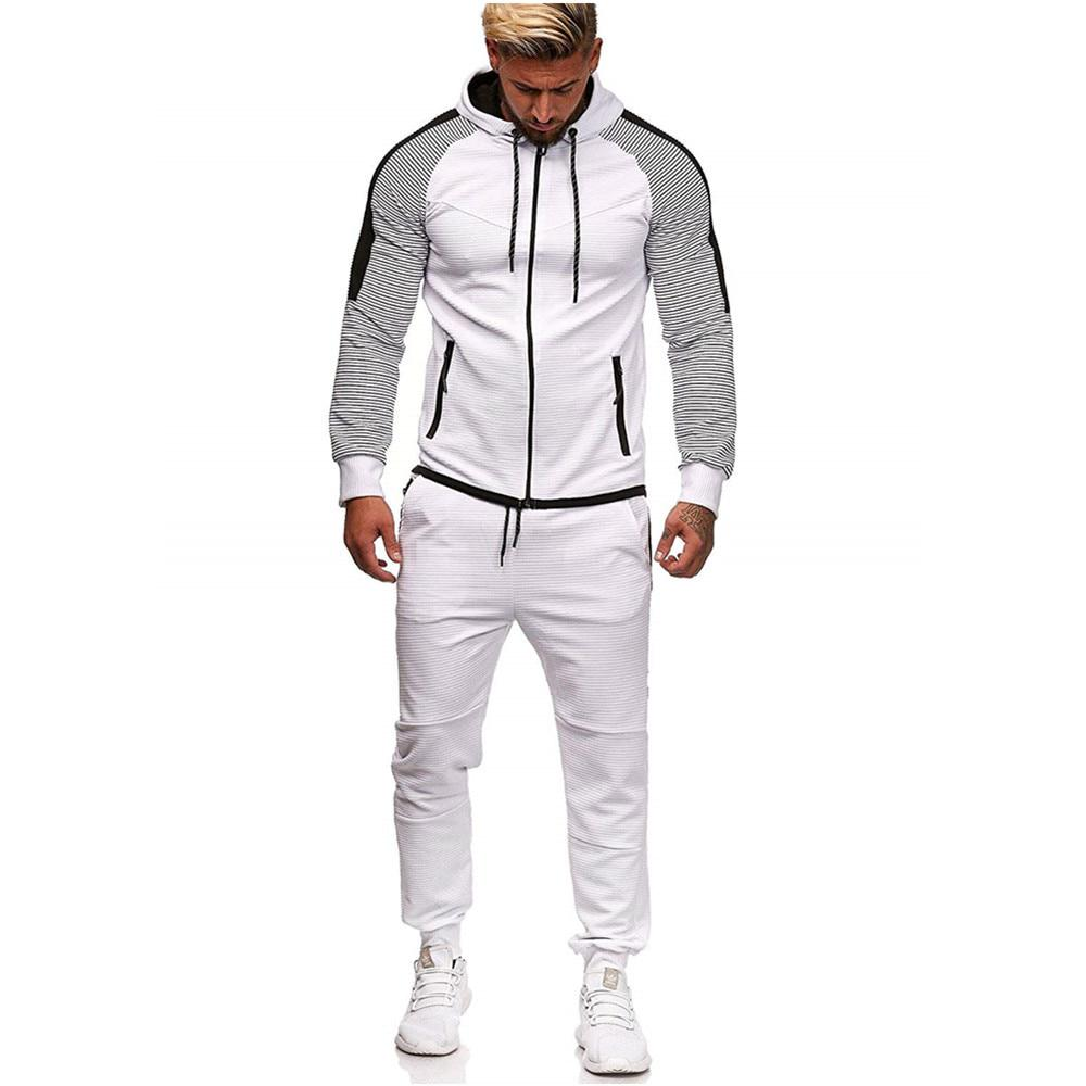 Men Tracksuit Sets Hoodies Track Pants Soprt Pulloer Sport Trouser Sportwear