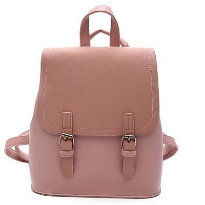 Leather Shoulder Bag Popular Girls Solid Color Simple Hit Color Female Package