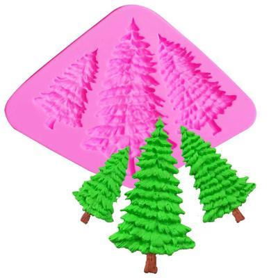 Arbol De Navidad Del Silicon Fondant Moldes Pino Pastel Decoracion