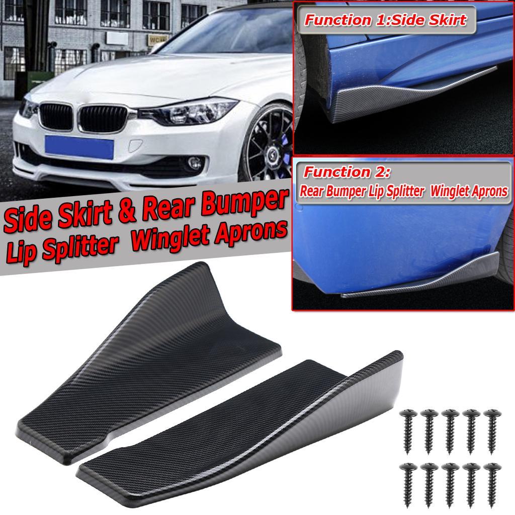 Carbon Rear Bumper Lip Side Skirt Winglets Canards Fit BMW F10 F30 F32 F80 F36