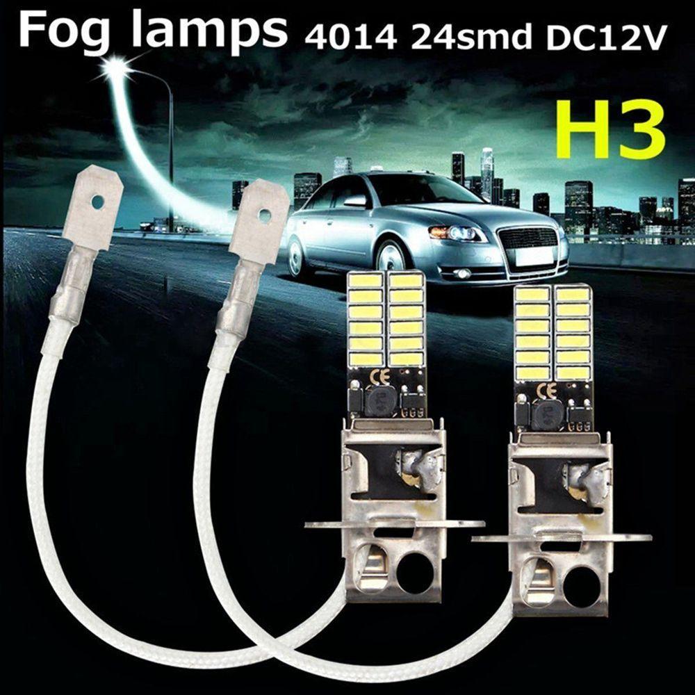 H1 6000K 24-SMD 4014 Super Bright Car LED White Fog DRL Head Light Bulb Lamp 12V