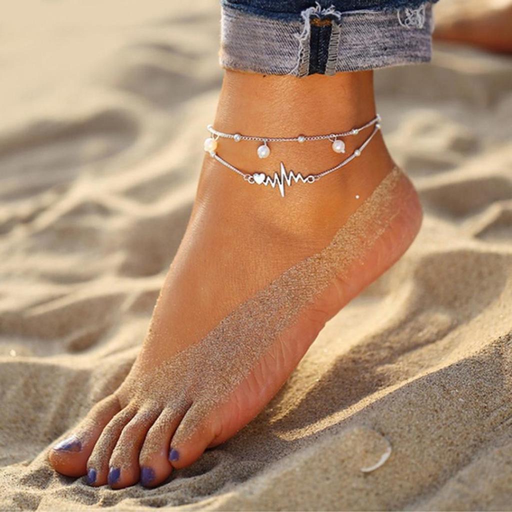 Bigsweety Multilayer Anklet Bracelet Starfish Shell Tassel Pendant Women Foot Jewelry Barefoot Sandal Beach Ankle Bracelet