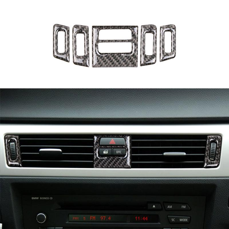 5x For BMW 3 Series E90 E92 2005-2012 Carbon Fiber Air Conditioner Outlet Cover