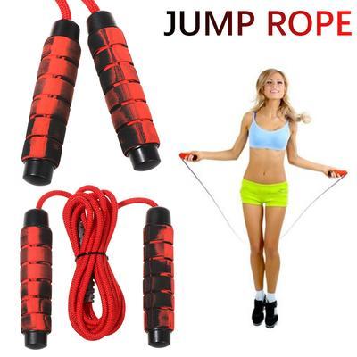 2X Skipping Rope Adult 9 foot Long Nylon Soft Handles Gym Fitness Training v1