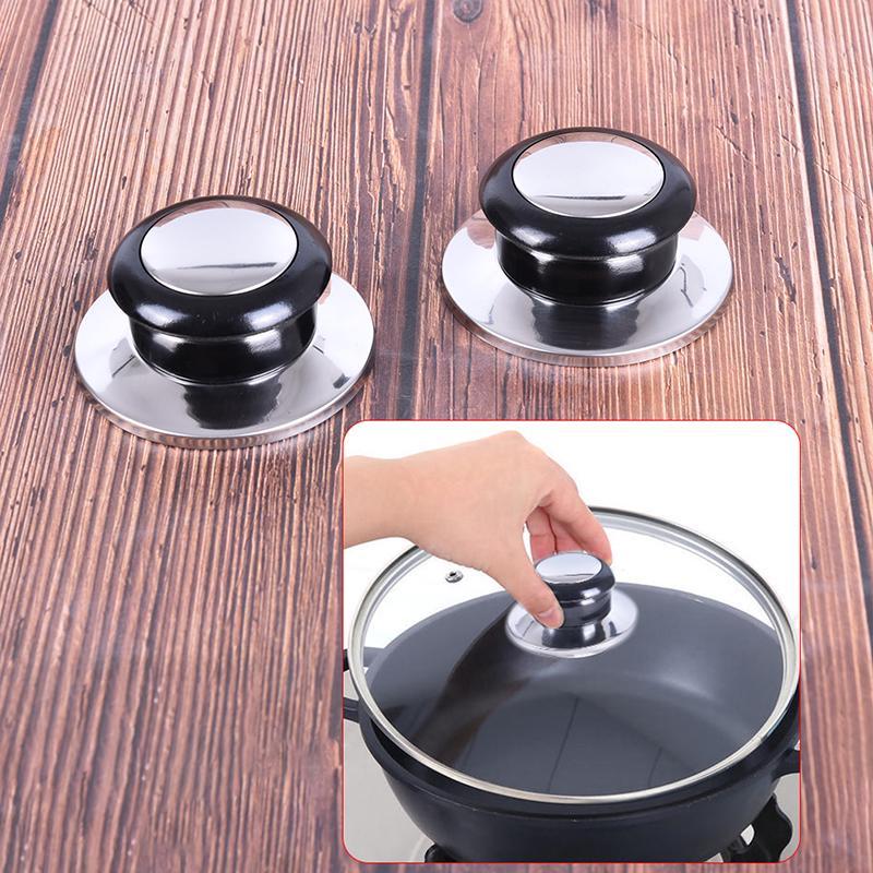 Pot Lid Knob Silicone Knob Pot Lid Handle Cover Plastic Kitchen Cookware Pot Knob Pan Lid Handle Universal Kitchen Replacement 4 Pcs