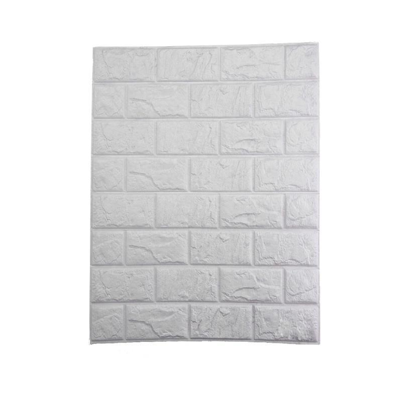 Details about  /10PCS 70*30cm 3D Wallpaper Stone Brick Wall Sticker Panel Foam Wall White Decors