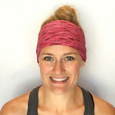 Wide Women Wrap Hairband Stretch Elastic Turban Running