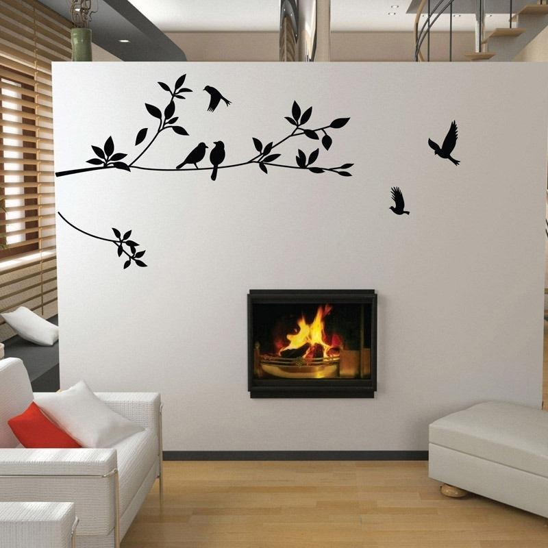 Home /& Living Bedroom Decor Tree Branch Love Birds Vinyl wall decal sticker Wall Art Sticker Vinyl Wall Art Living Room Art