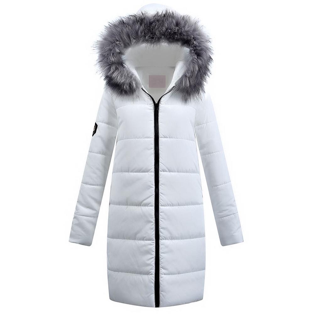 Womens Coat Winter Long Down Cotton Ladies Parka Hooded Quilted Jacket Outwear