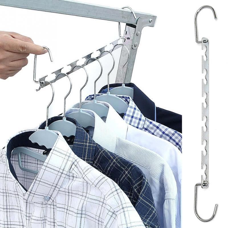 ☆6//10X Space Saver Closet Organizer Storage Coat Clothes Hanger Magic Hook Metal