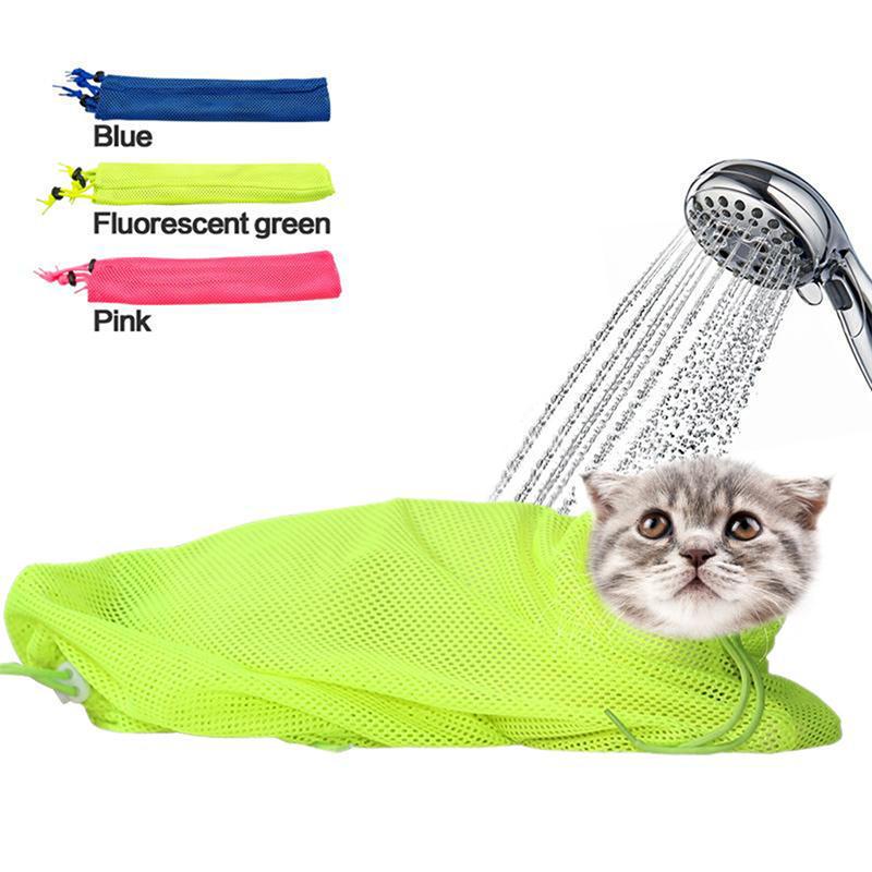 Malla Cat no Grooming baño bolso rascarse muerde sujeción para baño ...