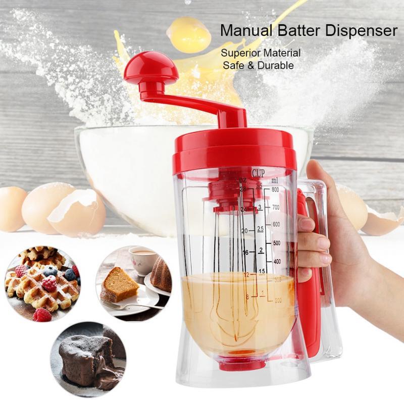 New Manual Pancake Batter Dispenser  Cupcakes Waffles Breakfast Mixer  wis