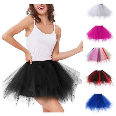 Dancer Style Dressing Up Fairy Elastic Waist Girls WHITE Ballet SOFT Tutu SKIRT