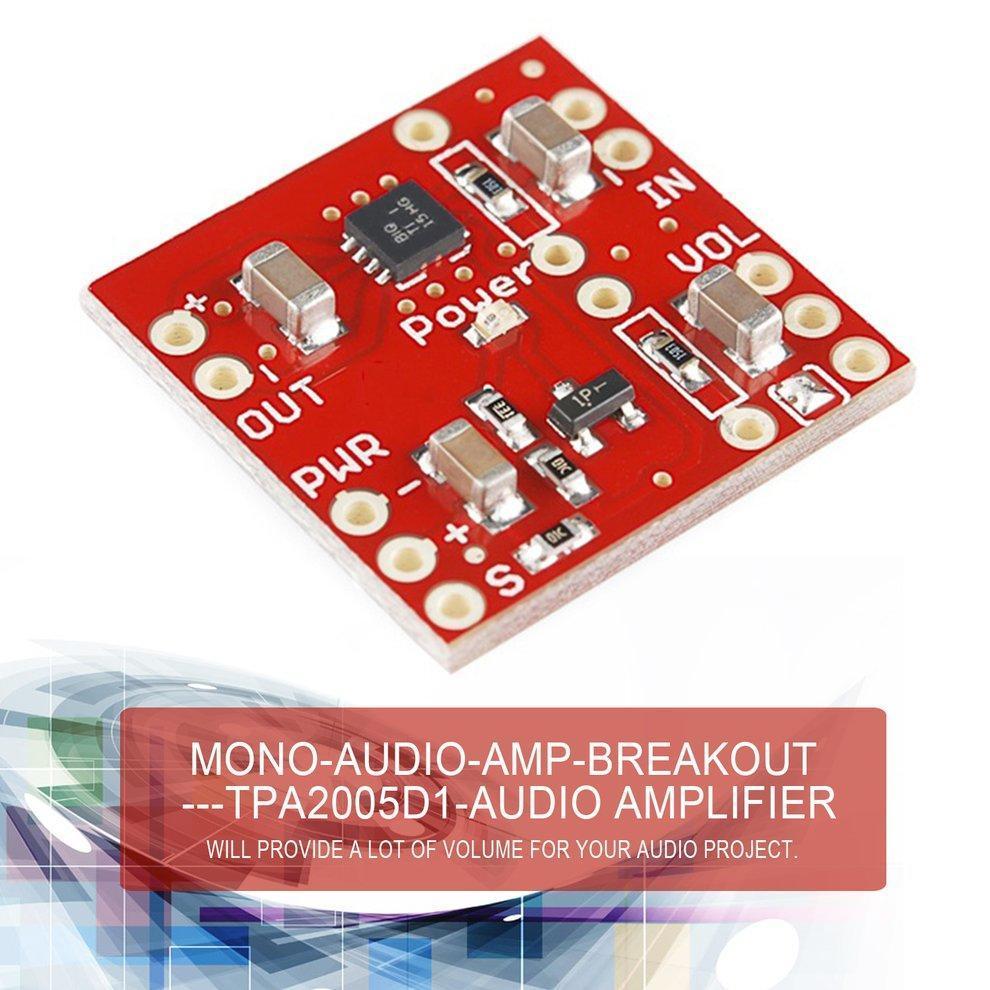 Tpa2005d1 250khz Mono Audio Amp Breakout Board Efficient Class D Amplifier Circuit Project Electronic Modules