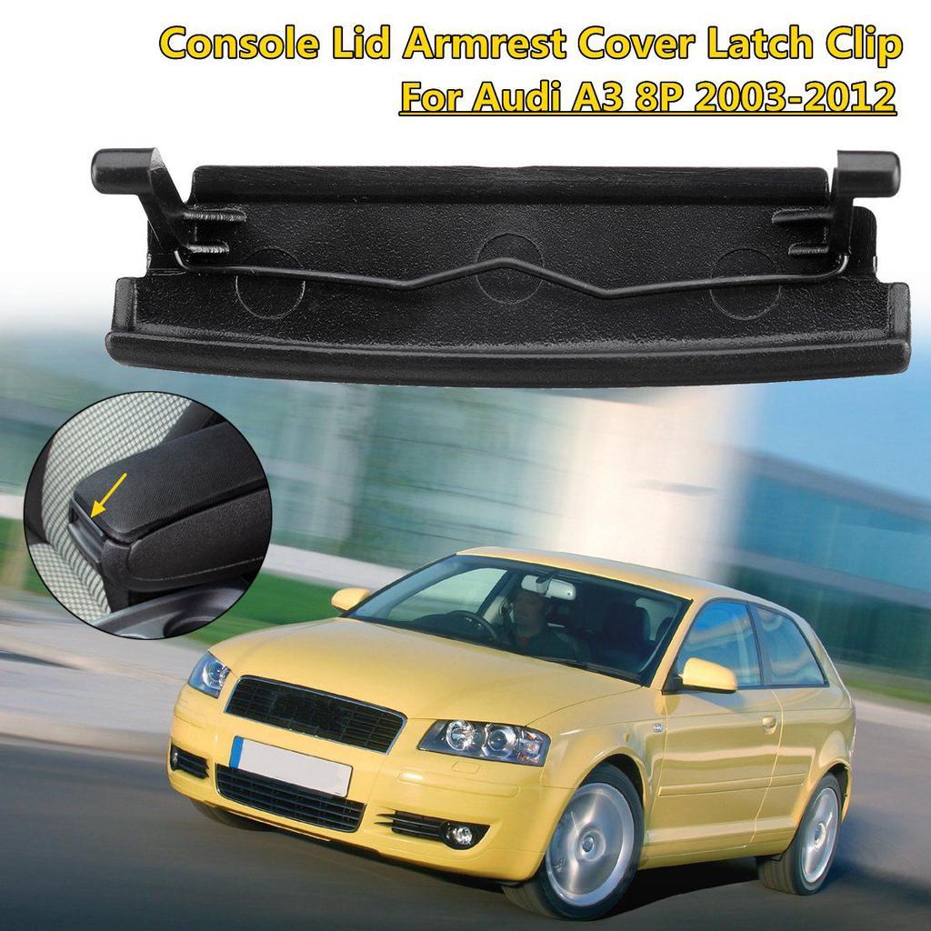 Armrest Center Console Cover Lid Latch Clip Plastic Black Fits For Audi A3 03-12